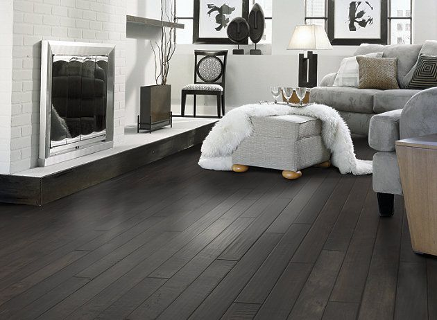 dark wood floor family room. Shaw Floors hardwood in style  Lewis Clark color Legacy bring modern to relaxed family living this collection is hand scraped and distressed Best 25 Black floors ideas on Pinterest wood