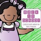 FREEBIE! Back to school mini classroom packet FREEBIE!!  Alphabet Word Wall letters, open house sign in sheet, student info sheet, and parent surveys. FREE to celebrate new facebook page at: https://www.facebook.com/tristendixontpt