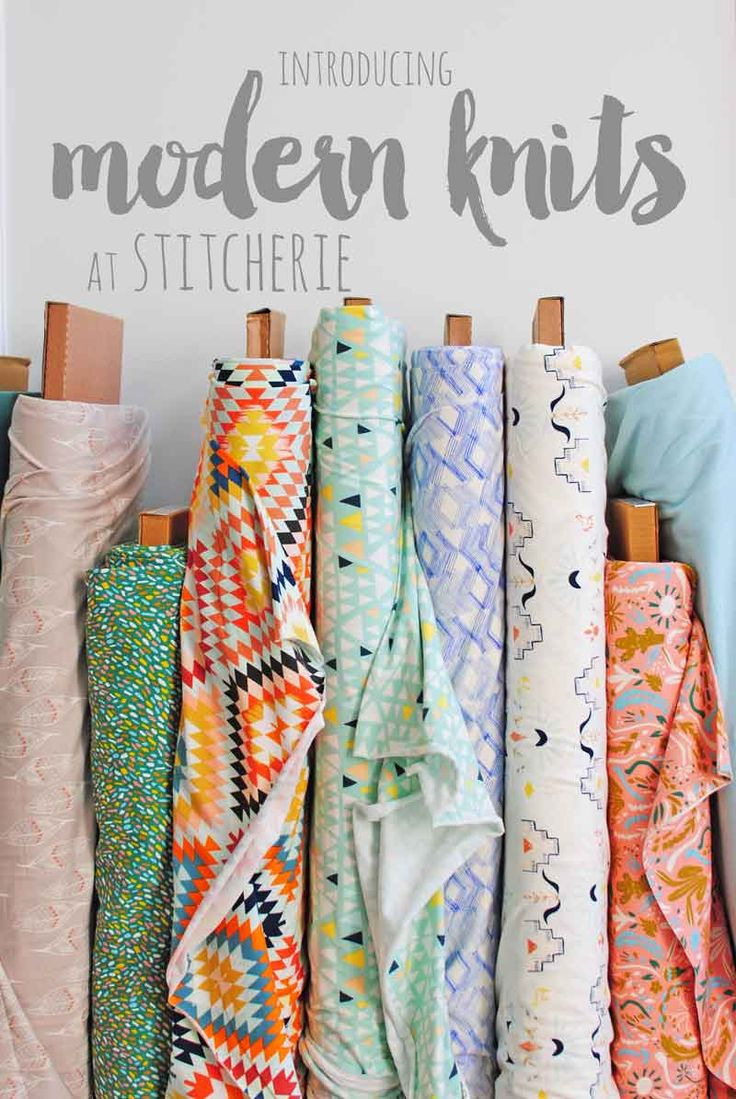Modern Knit Fabrics for DIY Crafting | Introducing modern knits at Stitcherie for all your trendy kids clothes, chic nursery decor and garment sewing needs!