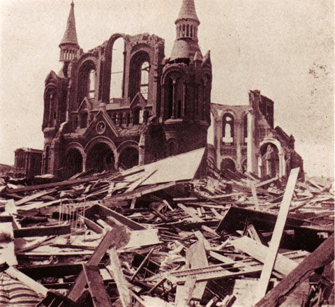 The Great Galveston Storm of Sept. 8–9, 1900, was the worst natural disaster in U.S. history in terms of human life. Loss of life has been estimated at 6,000 to 8,000, but the exact number has never been determined.