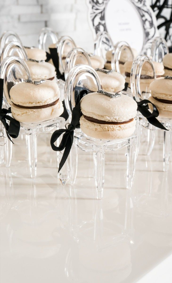 Macaroon chairs! Such a sweet idea for the desert table.