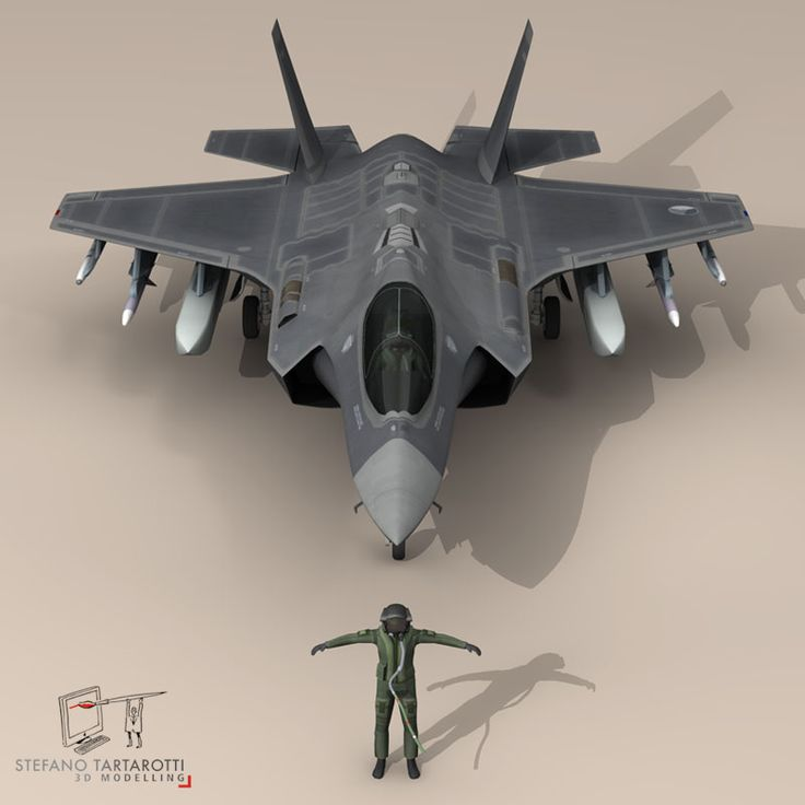 F 35 A Royal Netherlands air force 3D Model- NOTE: the pilot character is not rigged -no bones-  External pylons and weapons could be removed.  Made in cinema4d R12. .fbx format is good for importing in 3dstudio max and Maya.   - F35A: Polygons 30501 Vertices 31998  - Pilot character: Polygons 5012 Vertices 5105  This model is only artistic representation of the subject matter. I made it for a flight magazine illustration. If you like the model please rate it.    The F-35A is the…
