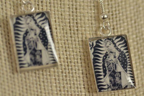 Petite Notre Dame de Guadalupe paire de par SeanWellsCreates