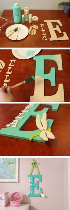 Love this for a child's room. Beautiful Letter Decoration | DIY & Crafts Tutorials