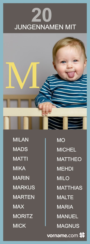 Suchst Du einen Jungennamen mit M? Finde bei uns den passenden Vornamen für Dein Baby!