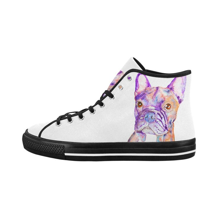 What do you mean no? French bulldog high top women's shoes