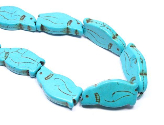 Cute turquoise howlite penguin beads #beads #howlite #turquoise #penguins