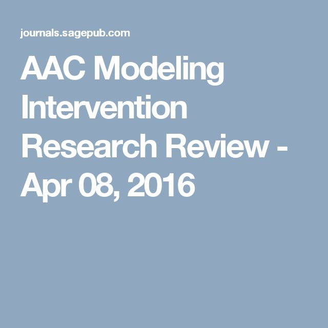 AAC Modeling Intervention Research Review - Apr 08, 2016
