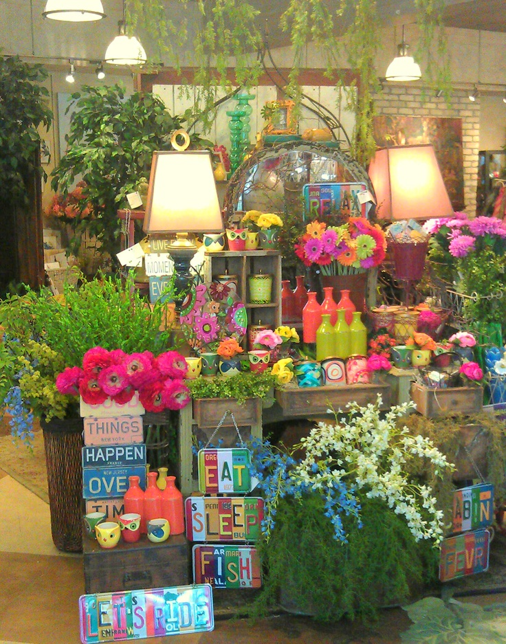 25 unique gift shop displays ideas on pinterest shop displays store displays and display ideas - Garden decor stores ...