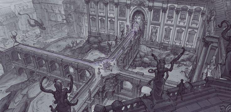 Corrupted water, David Noren on ArtStation at https://www.artstation.com/artwork/wB1qZ