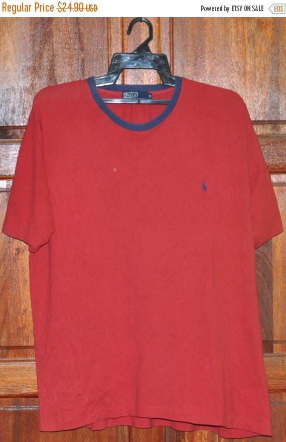 Big Sale 25% Vintage 90s Polo Sport Ralph Lauren Red Color