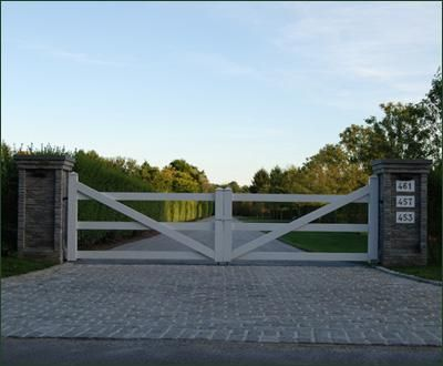 Simple Post and Rail Gate| Wood, Solid Cellular PVC and Vinyl Driveway, Estate and Walkway Gates from Walpole Woodworkers