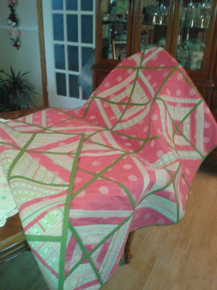 Quilt as you go:  A hug from Jess; made Feb-Mar'15