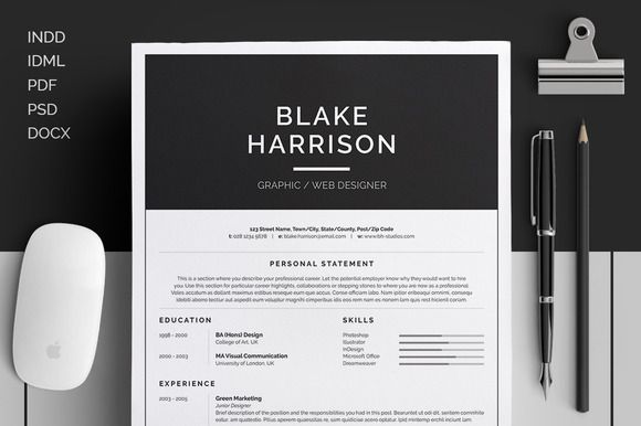 cool resume layout
