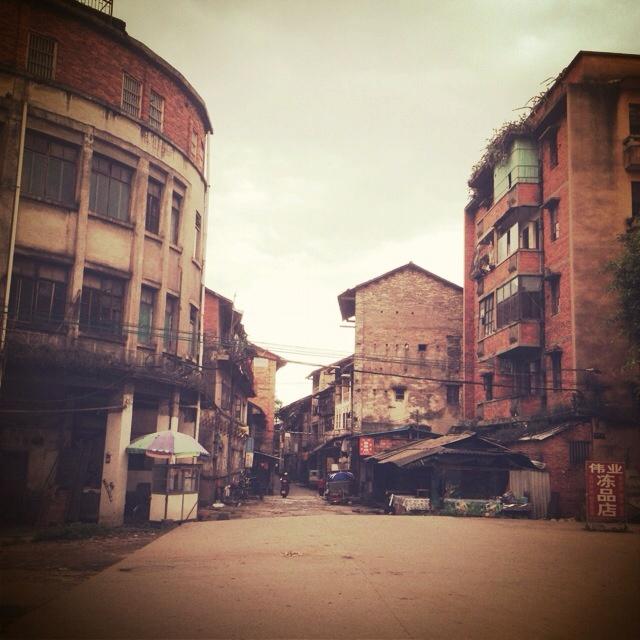 Ancient street, Meizhou, Guangdong, China