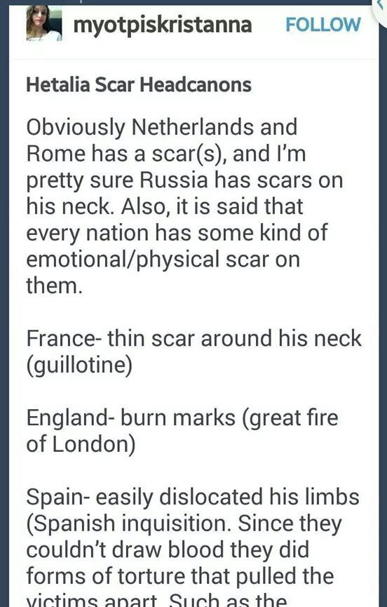Scars on the nations