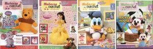 Comparto con vosotros esta 4 revistas con muchos muñecos a crochet o muñecos amigurumis, con patrones incluidos.Ya puedestejer todos los amigurumi que desees.