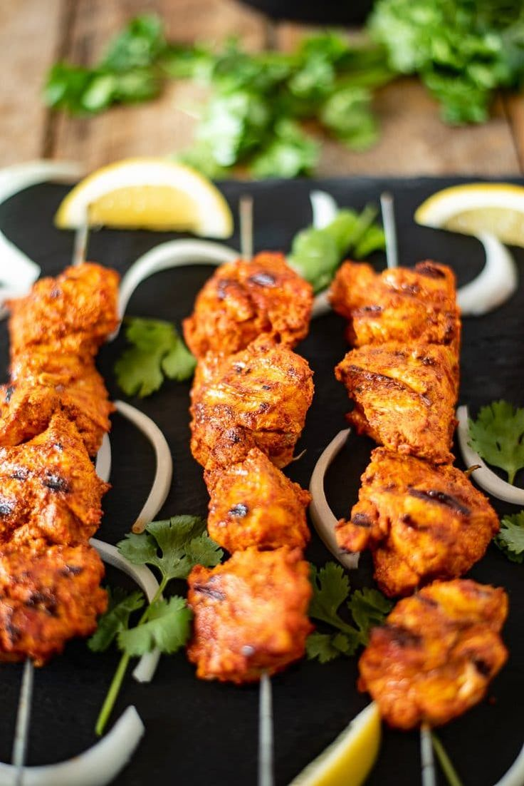 Grilled Tandoori Chicken Kebabs Grilled Tandoori Chicken