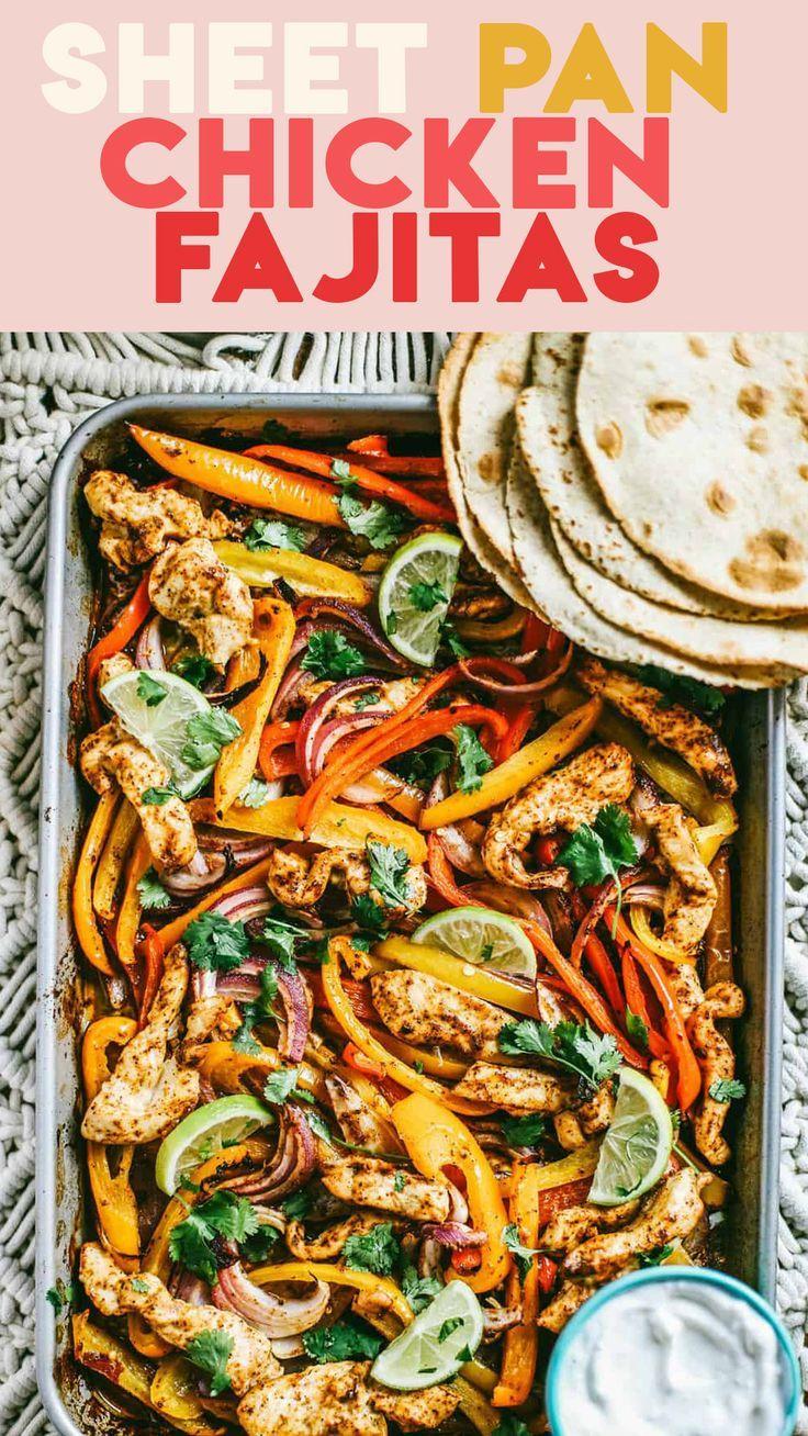 Chili Lime Sheet Pan Chicken Fajitas The College Housewife Recipe In 2020 Fajitas Pan Chicken Fajitas Chicken Fajitas