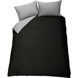 Buy ColourMatch Jet Black and Flint Grey Bedding Set - Double at Argos.co.uk - Your Online Shop for Duvet cover sets.