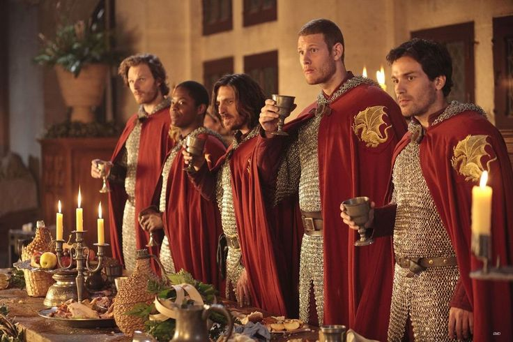 Leon, Elyan, Gwaine, Percival, and Lancelot when they were ...