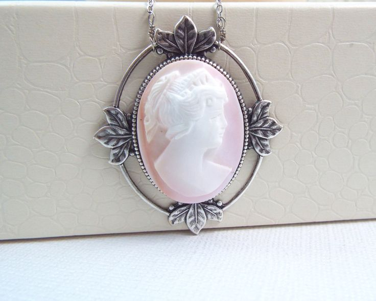 Rare Vintage Queen Conch Cameo Necklace - June - Gemstones by Rachelle Alberts by RachelleAlberts on Etsy  #rarejewelry #spdjewelry