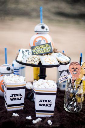 Aujourd'hui, je reviens en force avec un article pour vous donner tous les trucs dont vous avez besoin pour faire une super fête d'anniversaire sur le thème de Star Wars ! Mon petit Maé aura 4 ans …