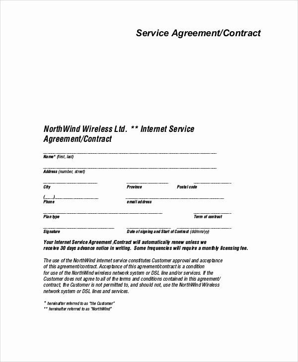 It Service Contract Template In 2020 Contract Template Contract