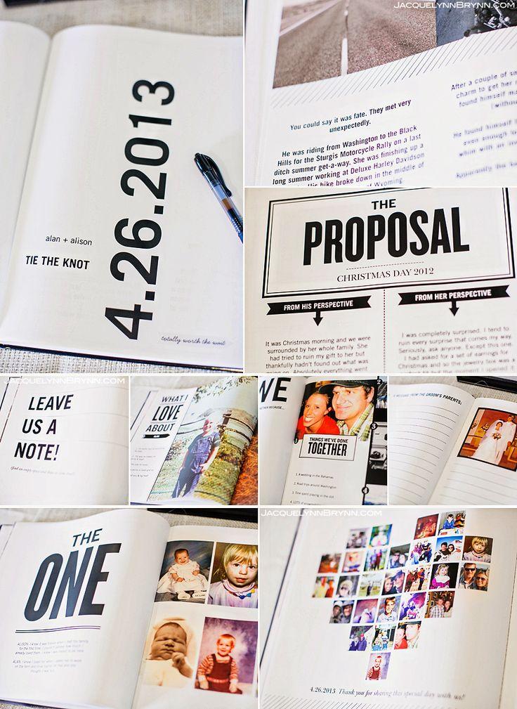 Guest wedding book, memory book, jacquelynn brynn photography, unique, modern