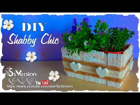 Tutorial: Contenitori in legno Shabby Chic | Riciclo Creativo | DIY Wooden Decor - YouTube
