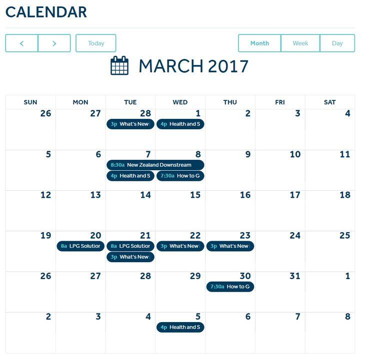 Course & event calendar - https://www.masterplumbers.org.nz/