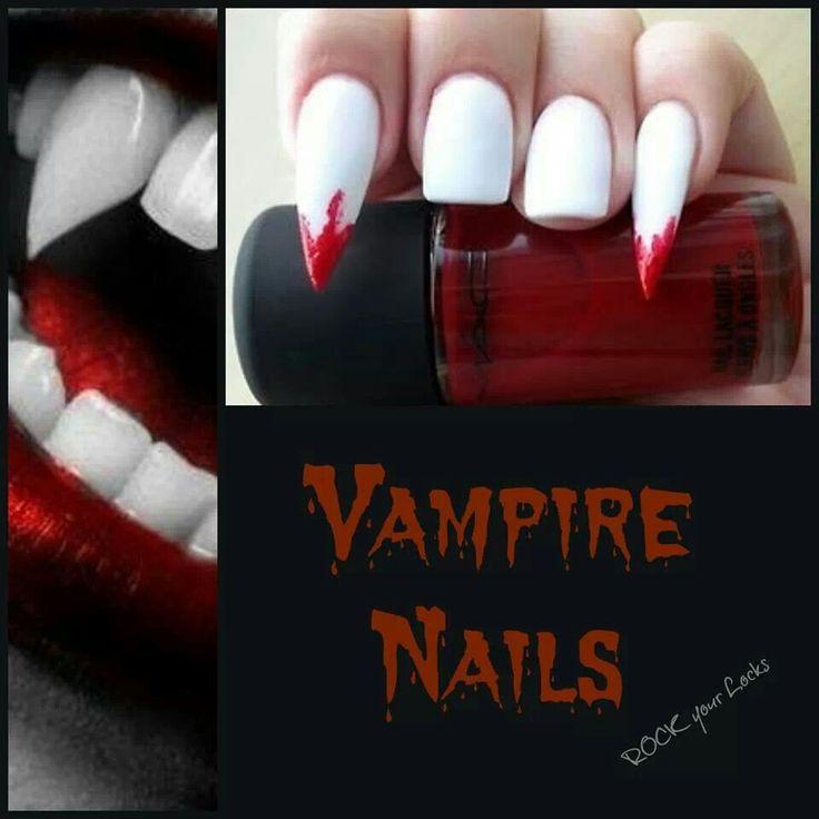 Vampire Nails for @Teresa Fisher