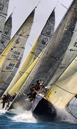 Pinching and driving to the weather mark.  One of the best legs in sailboat racing !!!