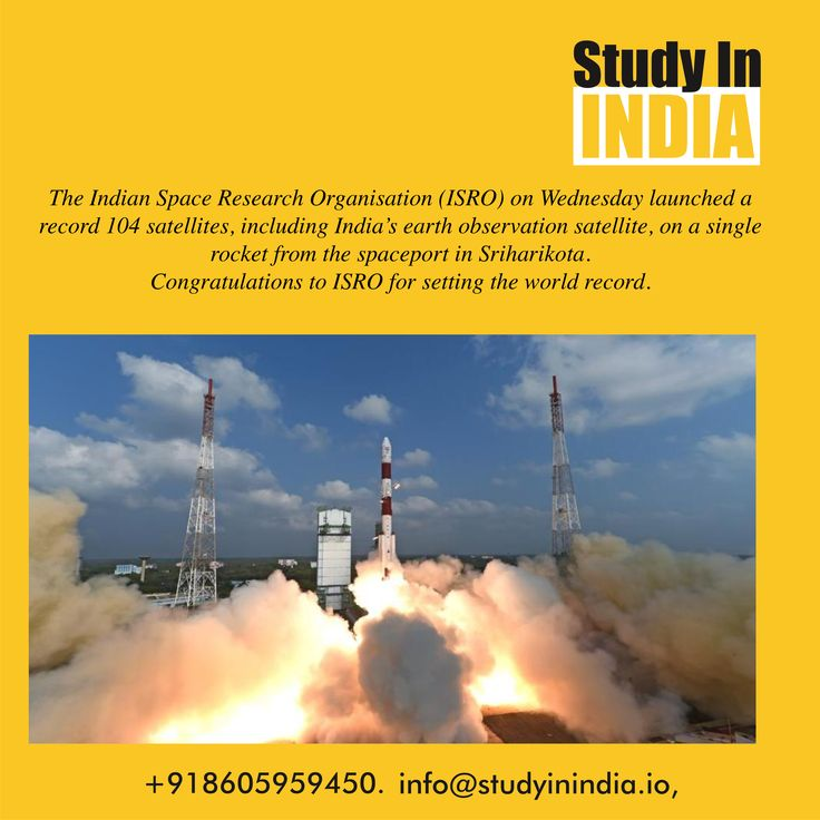 Congratulations #ISRO for its great success and setting the world record. #StudyinIndia study #SpaceTechnology in #India visit us on www.studyinindia.io or blog.studyinindia.io