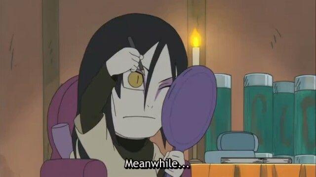 "Naruto » Humor » Moment | ""Meanwhile..."" | #orochimaru #narutosd ~From Naruto Spinoff: Rock Lee & His Ninja Pals"