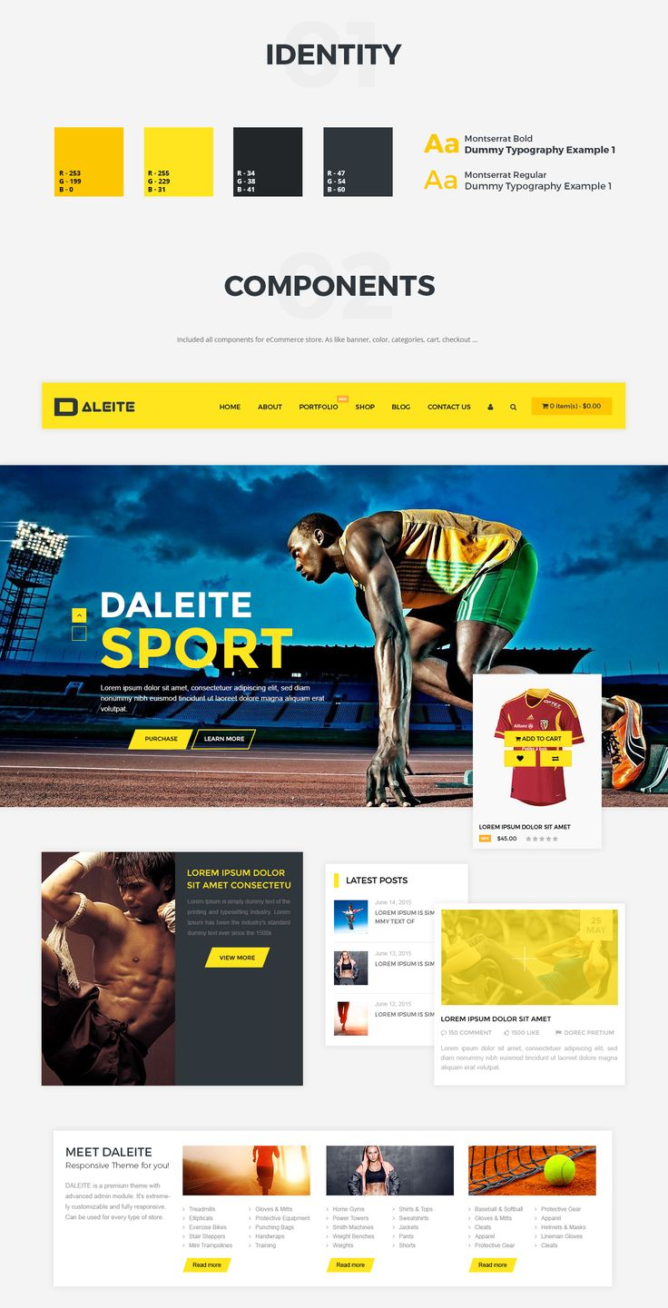 SPORT with Daleite - eCommerce template for Sport store on Behance