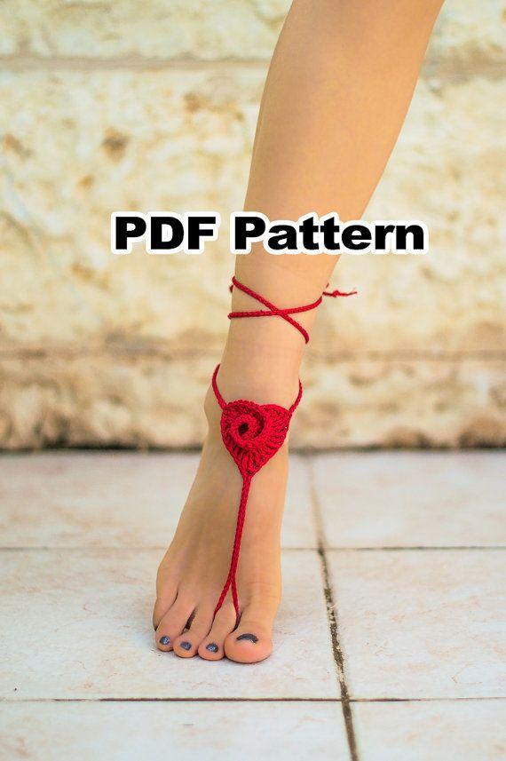 Red Heart Barefoot Sandals PATTERN 28 Crochet PDF par ZhaviPattern