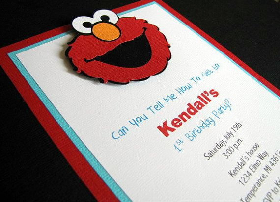 Elmo Party Invitations Elmo Birthday Party by ScrapYourStory