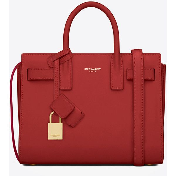 Saint Laurent Classic Nano Sac De Jour Bag ($1,655) ❤ liked on Polyvore featuring bags, handbags, shoulder bags, purses, red purse, handbags & purses, shoulder handbags, leather hand bags and leather shoulder bag