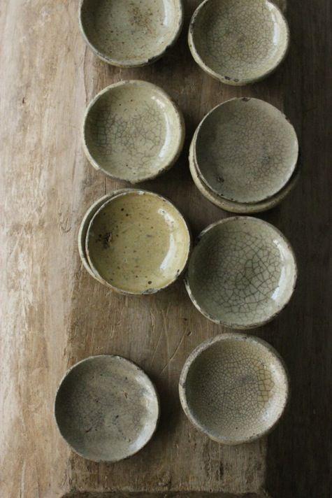 crackle glaze simple bowls celadon green