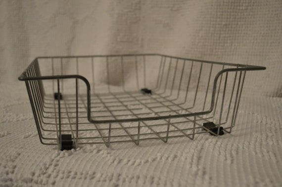 Vintage Industrial Metal Wire Letter Organizer Tray by RebornCool, $20.00