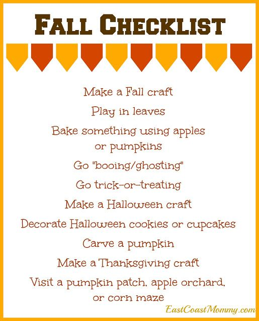 Best 25+ Fall checklist ideas on Pinterest Autumn bucket list - printable office supply list