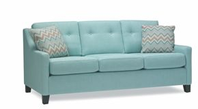 A lovely hint of blue would do wonders in your living room!   Sofa from Stylus Sofas!