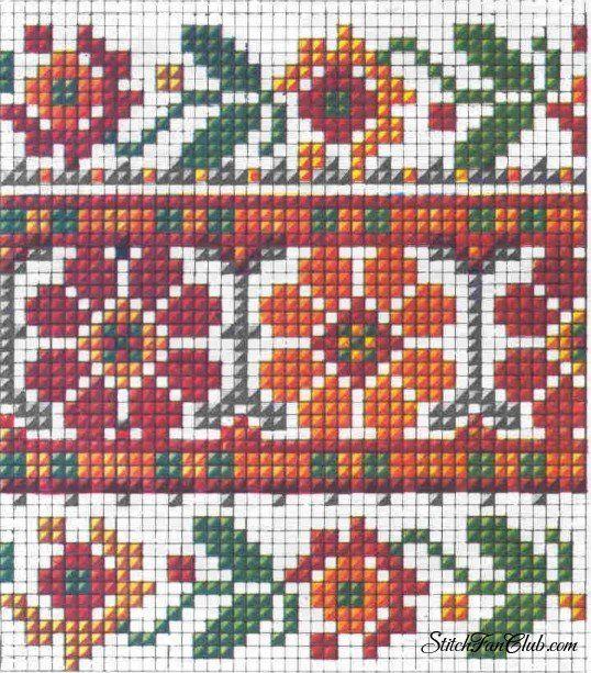 Виды швов украинских народных вышивок