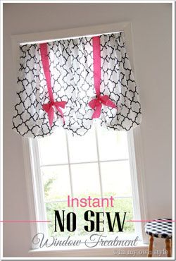 How to make a no sew window treatment using a fitted sheet. It is 1..2..3...EASY, fast and affordable decorating.