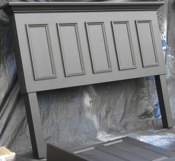 Old Doors Made Into Headboards For King Bed Panel Door