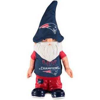 New England Patriots 4-Time Super Bowl Champions Commemorative Gnome