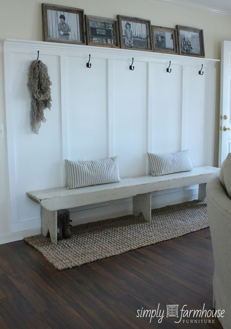 Built In Coat Wall Entrance Sisal Runner Under Bench Laundry Mudroom Entryway Home Decor