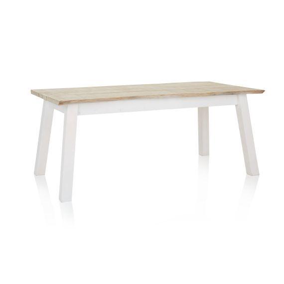 Fabulous Wir setzen auf Individualit t Hochwertiger Esstisch mit robuster Eichenholzplatte im Look einer rustikal naturbelassenen Baumscheibe die massiven Beine