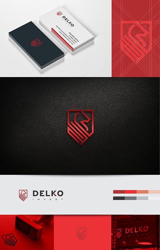 Logo e identidade visual desenvolvido para Delko Invest.  Rio de Janeiro – RJ.